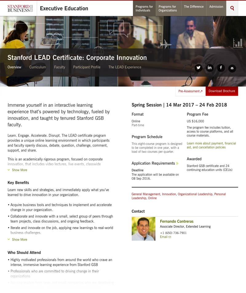 Stanford GSB - The Imagineering Company